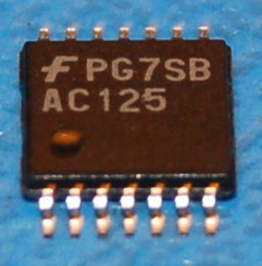 74125 - 74AC125 Quad Buffer with 3-State Output, SOIC-14