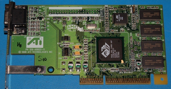 ATI Rage Pro Turbo AGP Video Card