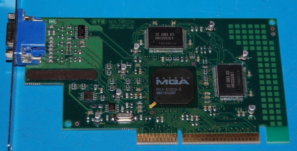 Matrox G100/A/4 AGP Graphics Card