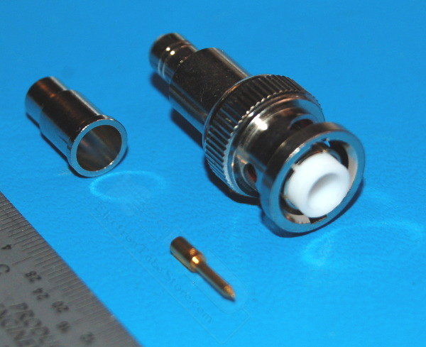 MHV BNC Male Connector, 3kV x RG59 Cable, 75Ω
