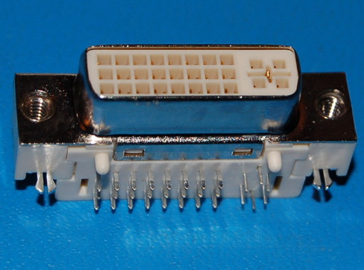 1734148-1 DVI-I, Dual Link Connector x Through-Hole