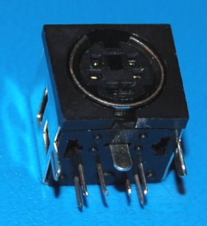 Mini-DIN-6 Female Connector x Through-Hole