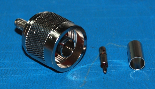 N-Type Male Connector, Crimp/Solder to RG55/RG141/RG142/RG223/RG400