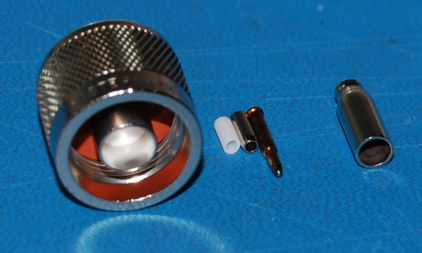 N-Type Male Connector, Crimp/Solder to RG174/RG316/RG188