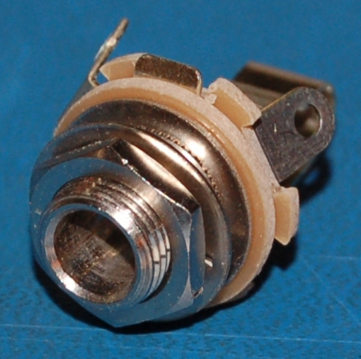 "TS-1/4"" (6.3mm) Mono Jack, Phenolic, Panel-Mount, NO"