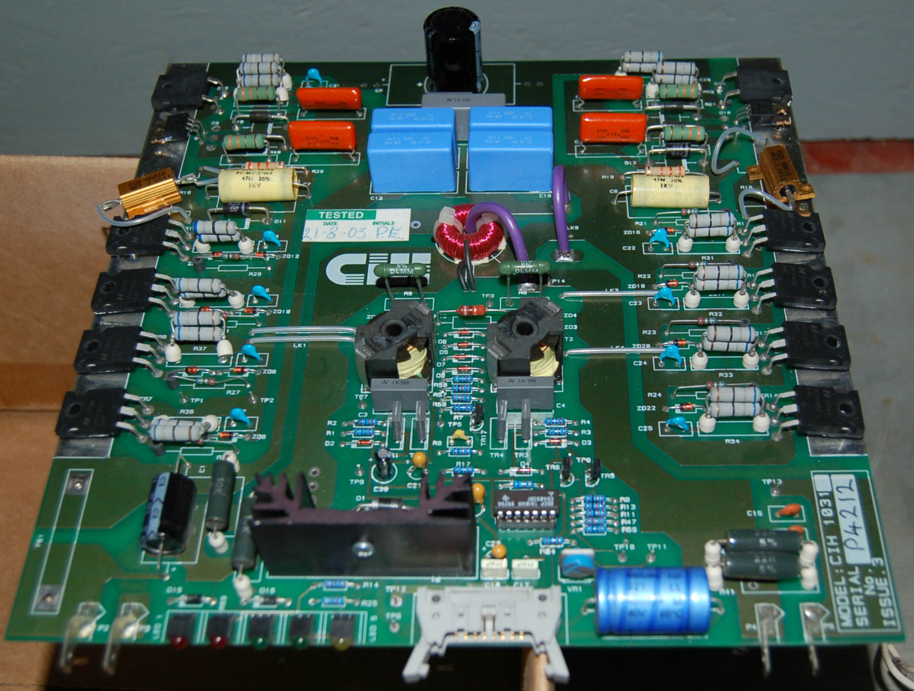 Cheltenham Induction Heater CIH1031 Board, Issue 3