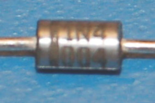 1N4004 General-Purpose Diode, 400V, 1A, DO-41, Silver