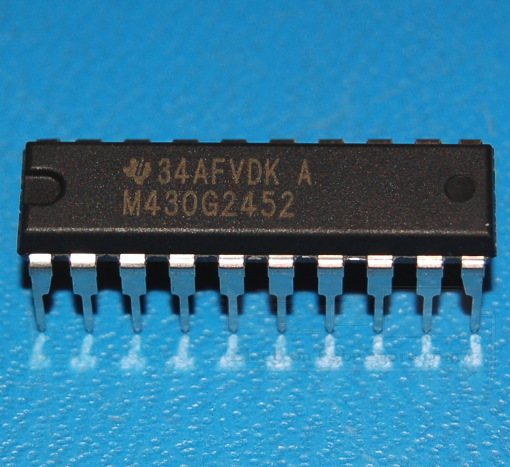 MSP430 Mixed Signal Microcontroller, 16-bit, 8KB, 16MHz, DIP-20