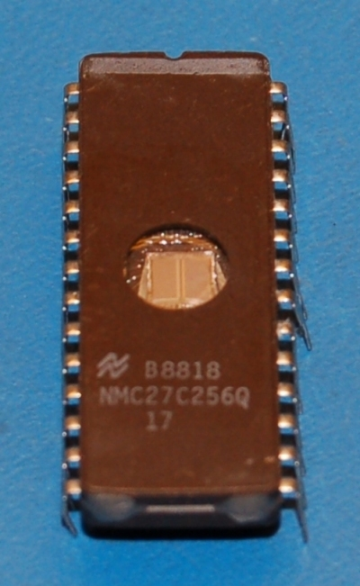 27512-25 UV EPROM, 512Kb (64K x 8), Used (Cleaned Pulls), DIP-28