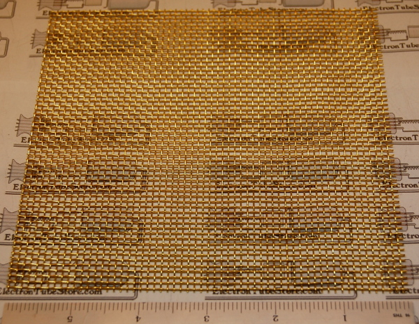 "Brass 10-Mesh (2000 micron / .075"" Wd), .025"" (.64mm) Wire, 6x6"""