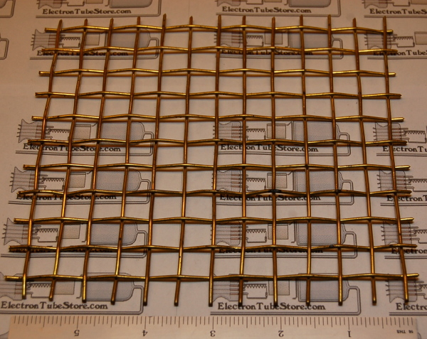 "Brass 2-Mesh (11mm / .437"" Wd), .063"" (1.6mm) Wire, 6x6"""