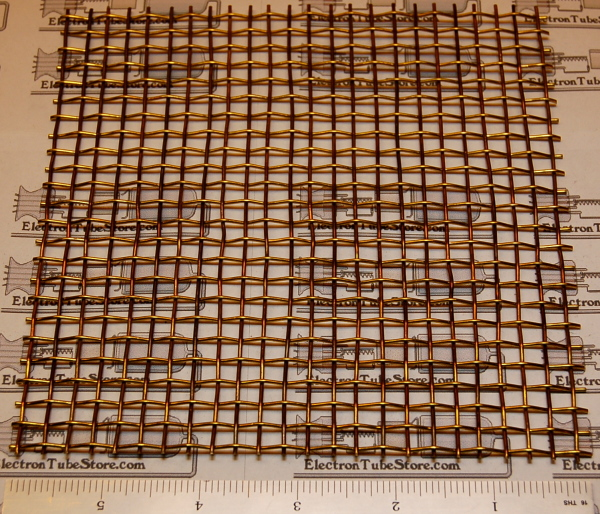 "Brass 4-Mesh (5.2mm / .203"" Wd), .047"" (1.19mm) Wire, 6x6"""