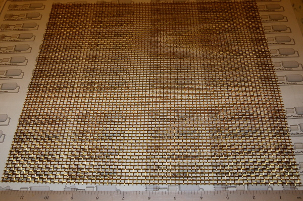 "Brass 6-Mesh (3.3mm / .132"" Wd), .035"" (.89mm) Wire, 12x12"""