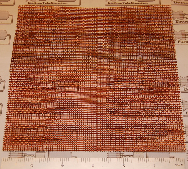 "Copper 14-Mesh (1410 micron), .020"" (.51mm) Wire, 6x6"""