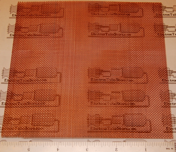 "Copper 20-Mesh (841 micron), .016"" (.41mm) Wire, 6x6"""