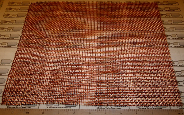 "Copper 8-Mesh (2.5mm / .097"" Wd), .028"" (.71mm) Wire, 12x12"""