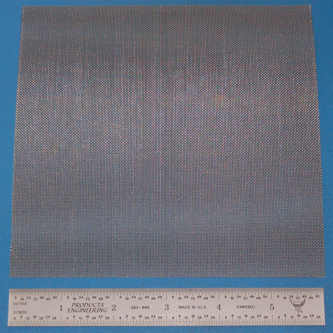 "Stainless Steel 35-Mesh (500 micron), .010"" Wire, .019"" Wd, 6x6"""