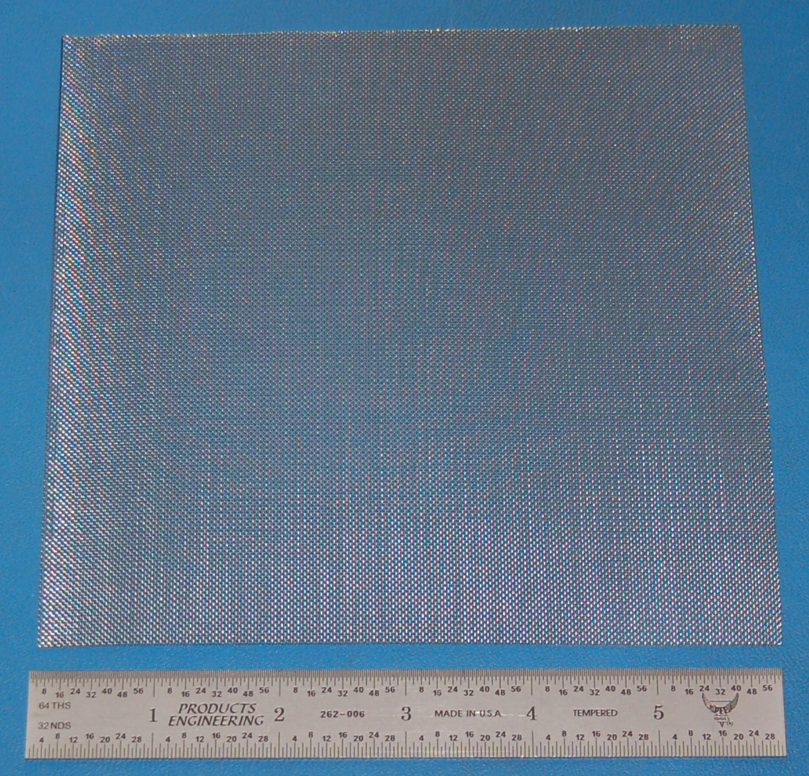 "Stainless Steel 38-Mesh (508 micron), .0065"" Wire, .020"" Wd, 6x6"""