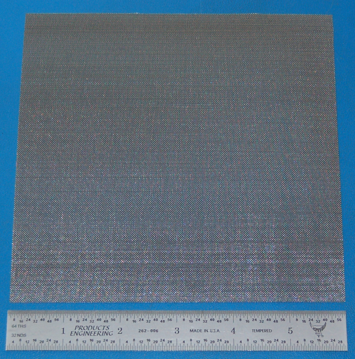 "Stainless Steel 50-Mesh (297 micron), .009"" Wire, .011"" Wd, 6x6"""