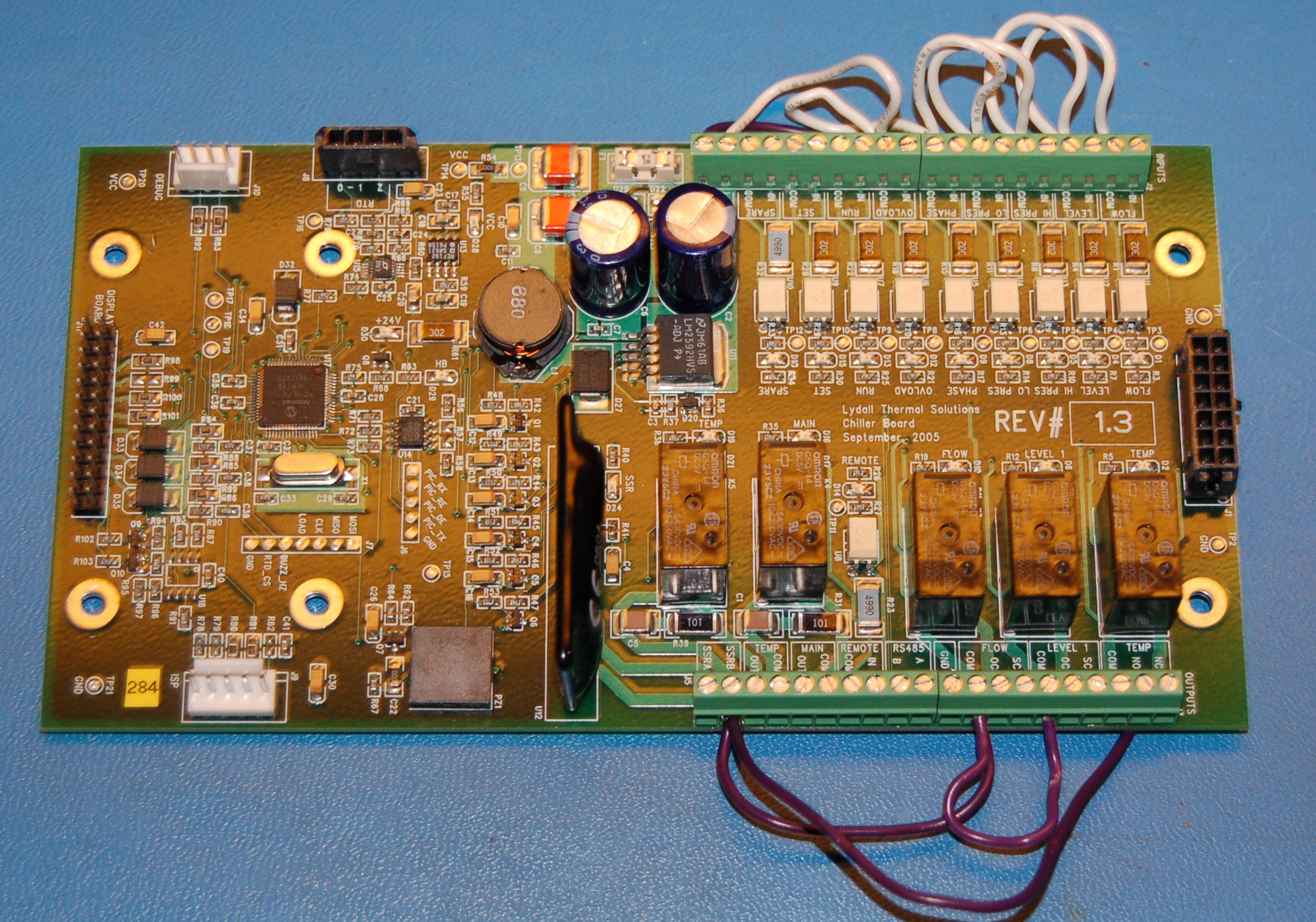Lydall Controller Chiller Main Logic Board Rev. 1.3