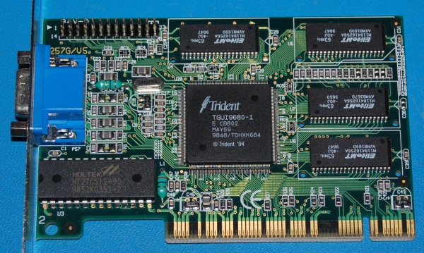 Trident TGUI9680-1 PCI Video Card