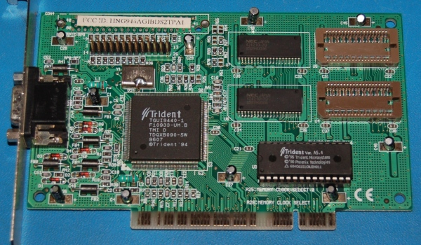 Trident TGUI9440-1 PCI Video Card