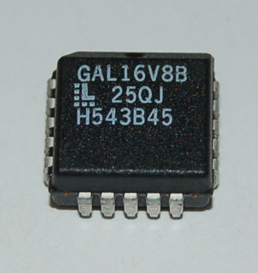 Lattice GAL16V8 E2CMOS PLD, PLCC-20