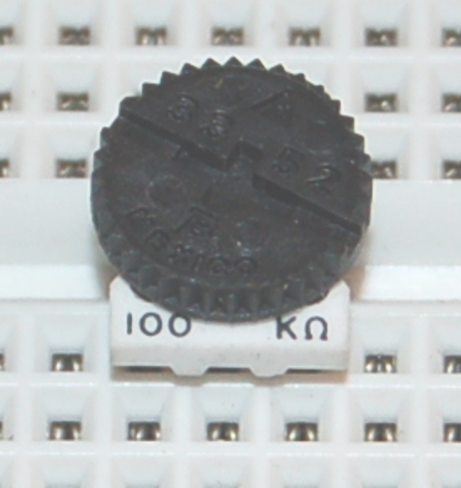 "Ceramic Trimming Potentiometer, 3/8"" Round, 0.5W, 100kΩ"