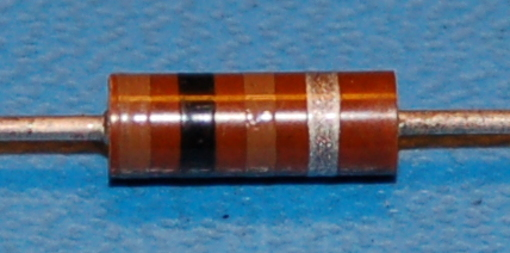 Carbon Composition Resistor, 1/2W, 10%, 100Ω