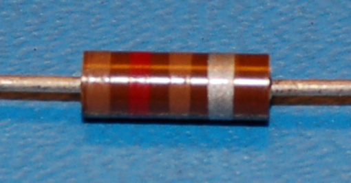 Carbon Composition Resistor, 1/2W, 10%, 120Ω