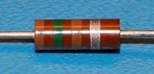 Carbon Composition Resistor, 1/2W, 10%, 150Ω