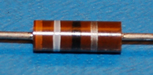 Carbon Composition Resistor, 1/2W, 10%, 39Ω