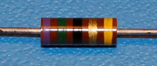 Carbon Composition Resistor, 1/2W, 5%, 75Ω