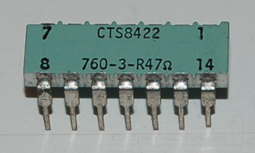 760-3-R47Ω Thick Film Resistor Network, Isolated, 47Ω, DIP-14 (10 Pk)