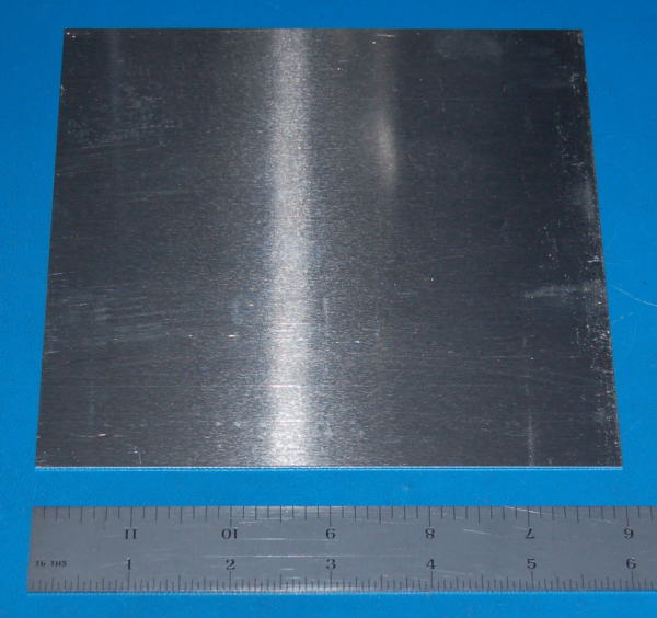 "Aluminium 3003 Sheet, .032"" (0.8mm), 6x6"""