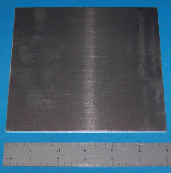"Aluminium 3003 Sheet, .063"" (1.6mm), 6x6"""