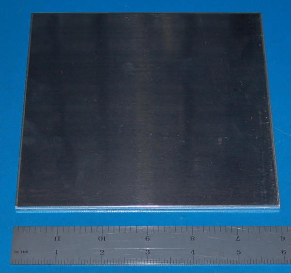 "Aluminium 3003 Sheet / Plate, .125"" (3.2mm), 6x6"""