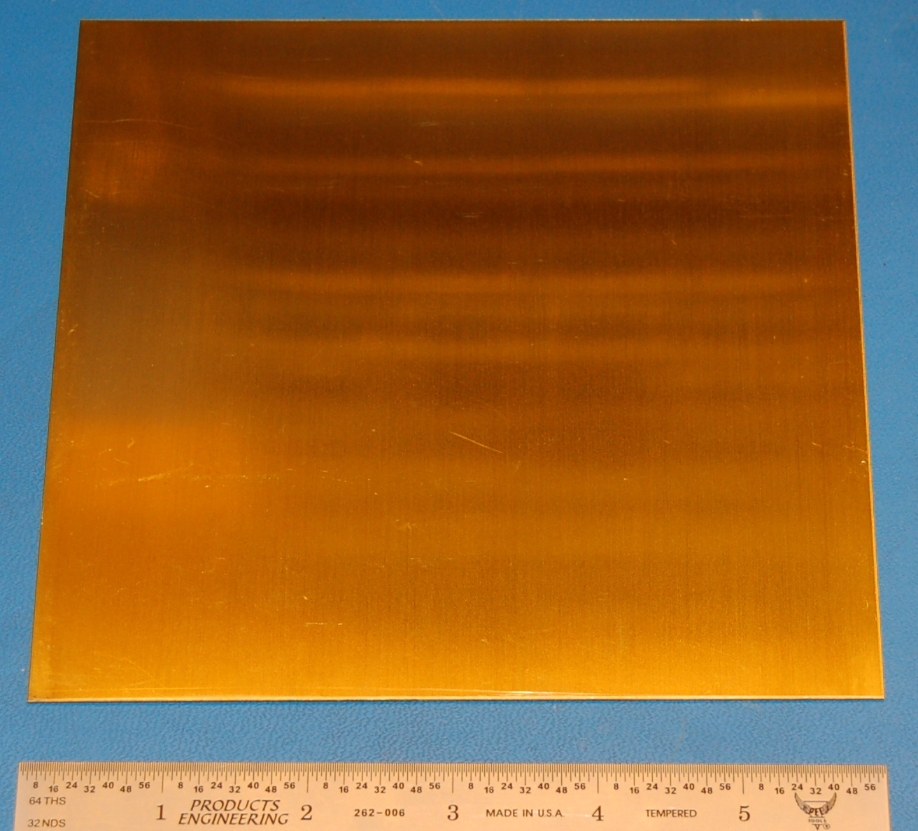 "Brass 260 Sheet, .032"" (.81mm), 6x6"""