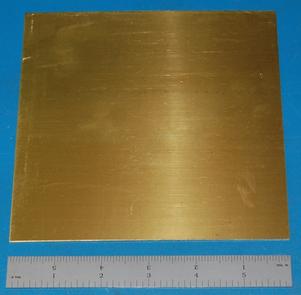 "Brass 260 Sheet, .040"" (1.02mm), 6x3"""