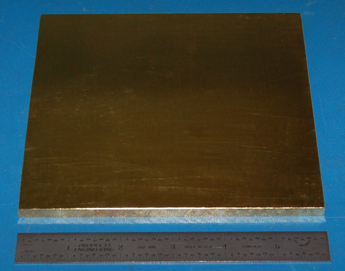"Brass 260 Sheet, .250"" (6.35mm), 6x6"""