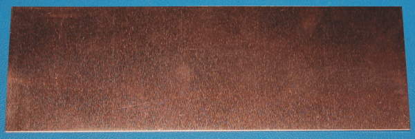 "Copper Sheet #36, .005"" (.13mm), 6x2"""