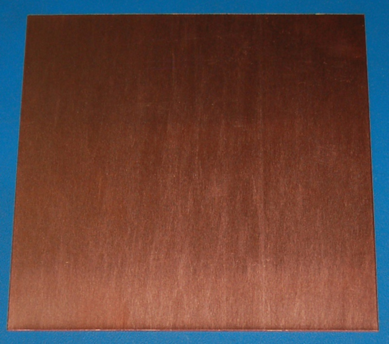 "Copper Sheet #20, .032"" (.81mm), 12x12"", Polished"