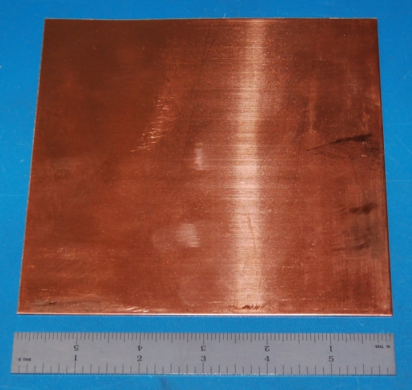 "Copper Sheet #18, .043"" (1.09mm), 6x3"""