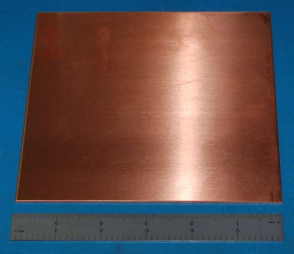 "Copper Sheet #16, .050"" (1.3mm), 6x3"""