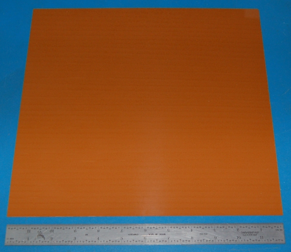 "Garolite Sheet, Grade XX, .032"" (.81mm), 12x12"" (Tan)"
