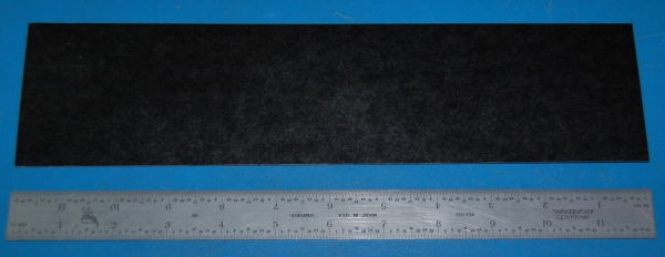 "Garolite Sheet, Grade XX, .032"" (.81mm), 12x3"" (Black)"