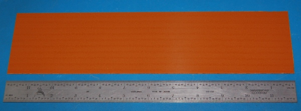 "Garolite Sheet, Grade XX, .032"" (.81mm), 12x3"" (Tan)"