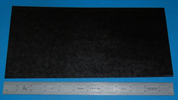 "Garolite Sheet, Grade XX, .032"" (.81mm), 12x6"" (Black)"