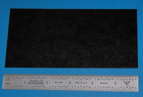 "Garolite Sheet, Grade XX, .032"" (.81mm), 6x3"" (Black)"