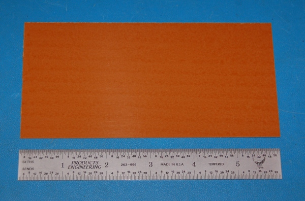 "Garolite Sheet, Grade XX, .032"" (.81mm), 6x3"" (Tan)"